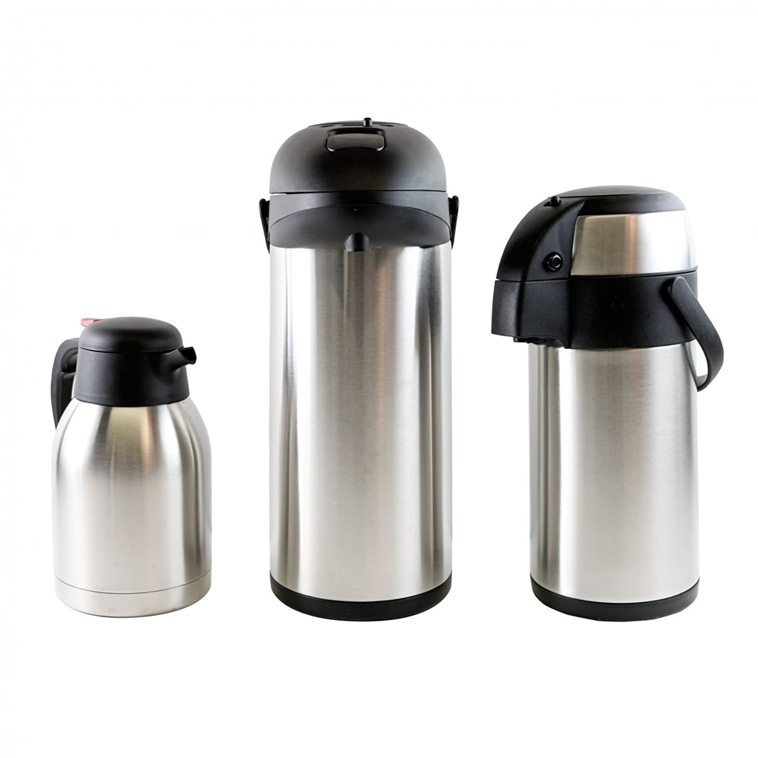 Oypla 5L Stainless Steel Airpot Insulated Vacuum Thermal Flask Jug