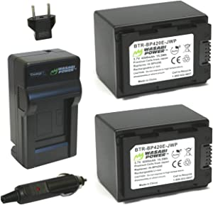 Wasabi Power Battery (2-Pack) and Charger for Samsung IA-BP420E