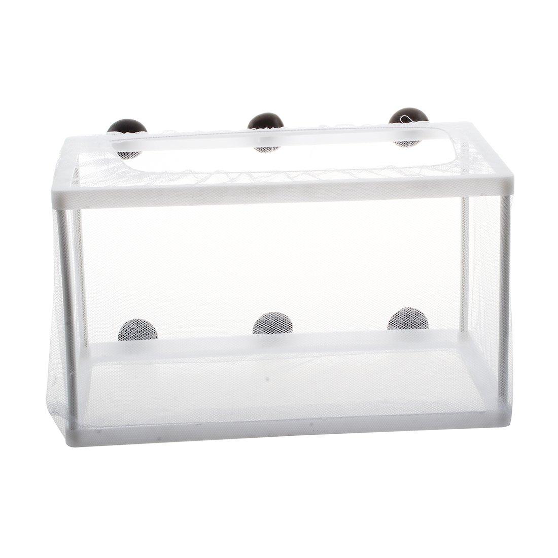 SODIAL(R) Incubateur de Grande taille de reseau d'isolement d'aquarium blanc, avec quatre ventouses 040149