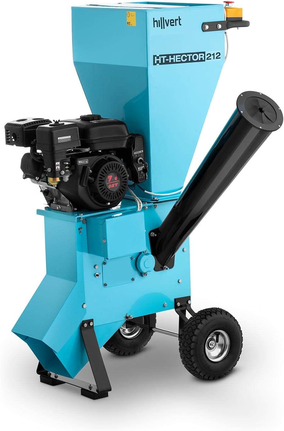 hillvert Triturador A Gasolina Biotriturador Para Jardín HT-HECTOR 212 (Velocidad: 3.600 rpm, Potencia: 7 PS, Diámetro De Corte: 70 mm)