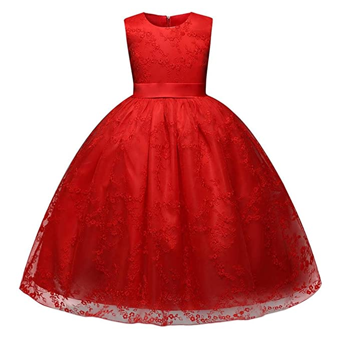 5f3df5eb1caa Amazon.com  Goodlock Children Kids Fashion Dress Lace Girls Princess Dress  Party Wedding Bridesmaid Formal Ball Gown Dresses  Clothing