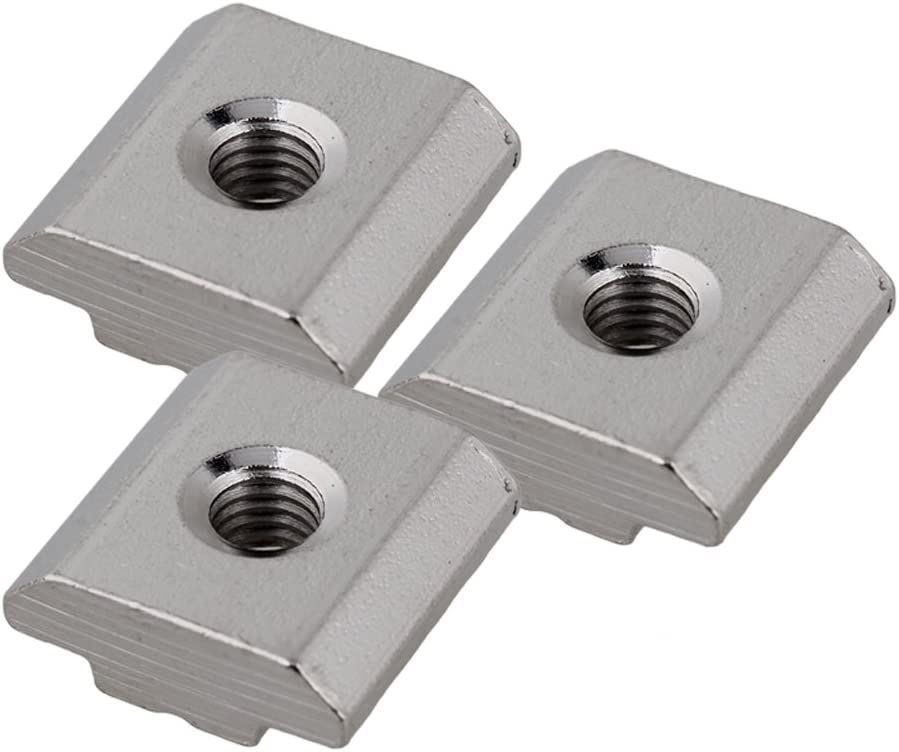 30x Silver European Standard 30 Series Al T Slot Square Slider Nut M5 Thread