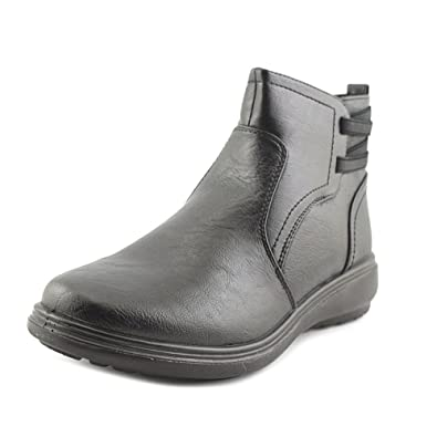 Risso Women Round Toe Synthetic Black Ankle Boot