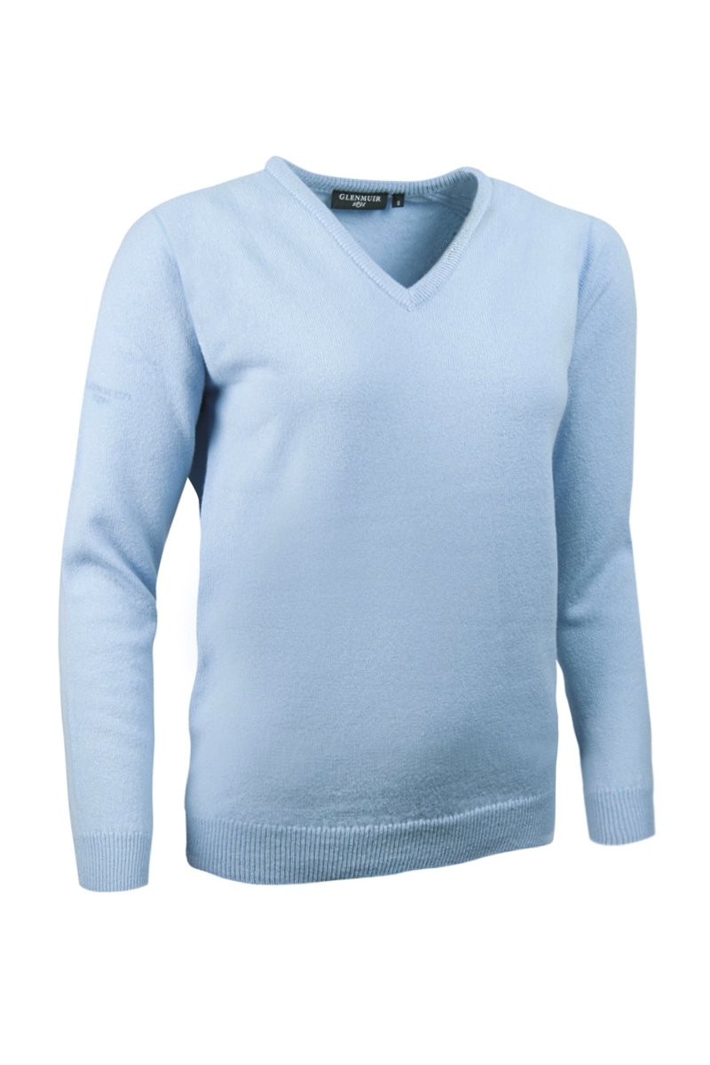 Glenmuir Ladies LKL2542VN V Neck Lambswool Golf Sweater Paradise S by Glenmuir