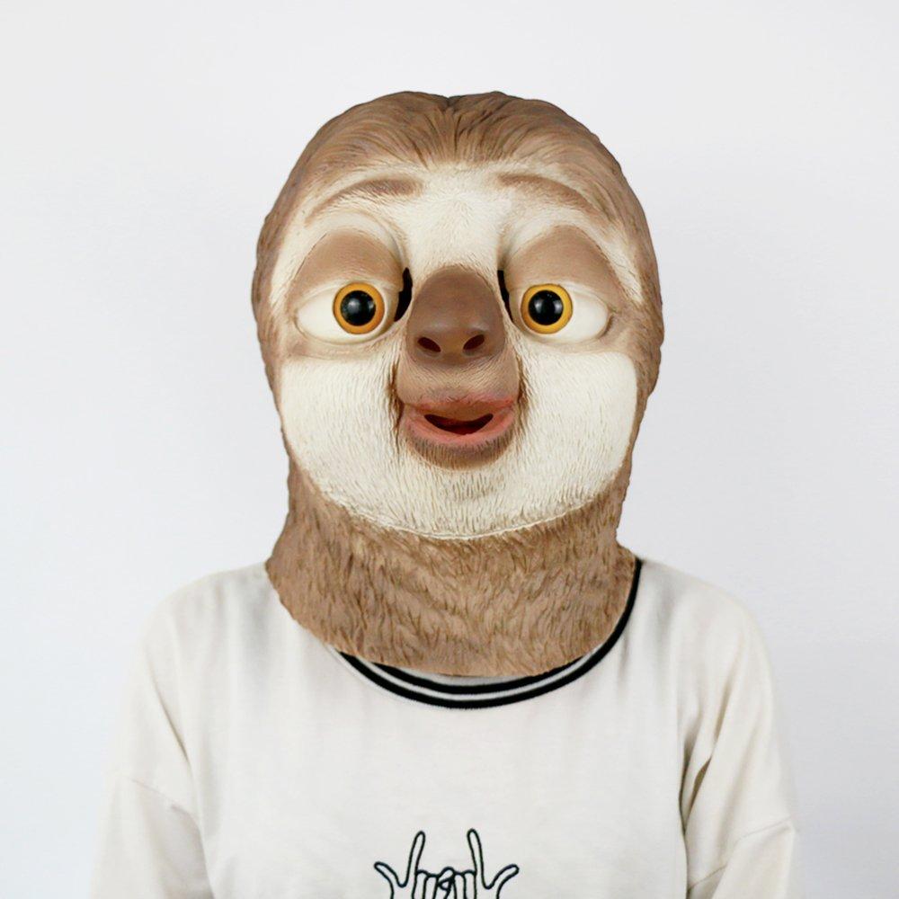 bfj Zootopia Flash Animal cabeza máscara perezoso traje de Cosplay ...