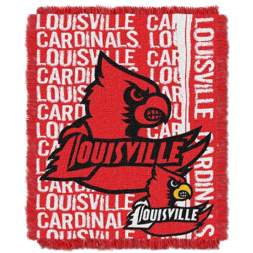 (The Northwest Company Officially Licensed NCAA Louisville Cardinals Double Play Jacquard Throw Blanket, 48