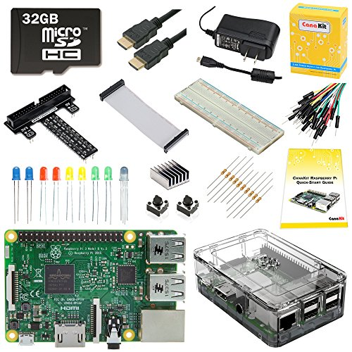 CanaKit Raspberry Pi 3 Ultimate Starter Kit - 32 GB Edition (Raspberry B Kit)