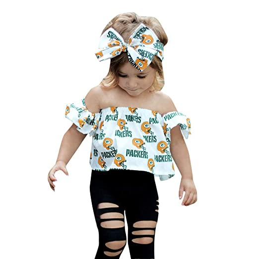 9a2592ddad765 Stylish Toddler Princess Girls Ruched Off Shoulder Cartoon Print Tank Tops  Black Hole Pants and Bow