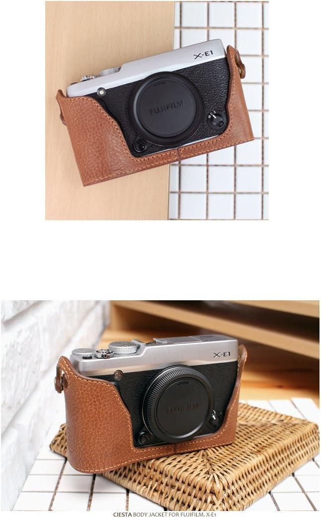 Brown CIESTA Leather Camera Body Case CSJ-XE1-2 01 for Fujifilm X-E1 X-E2