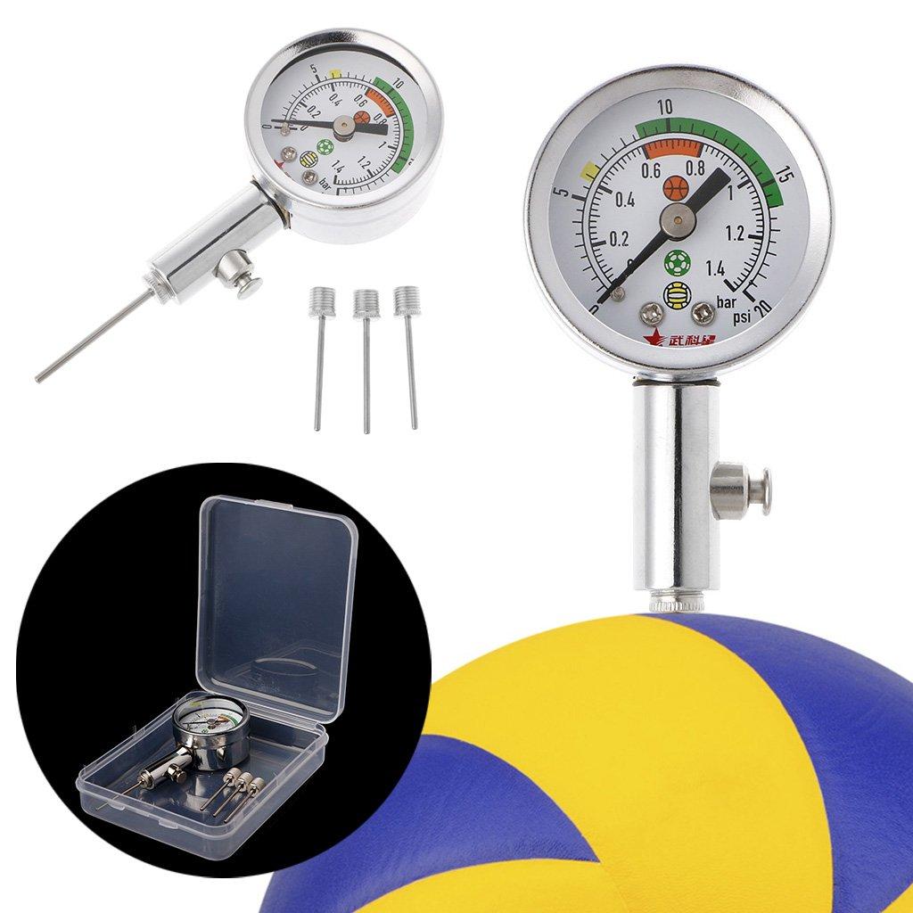 Medidor de presión de bola con 3 agujas para fútbol voleibol ...