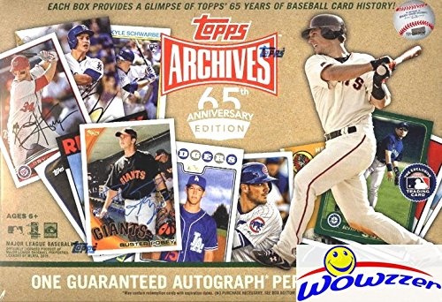 (2016 Topps Archives 65th Anniversary Edition Factory Sealed Box with HAND SIGNED AUTOGRAPH! Look for Autographs & Cards of Ken Griffey Jr, Mike Trout, Cal Ripken Jr, Buster Posey & Many More! WOWZZER!)