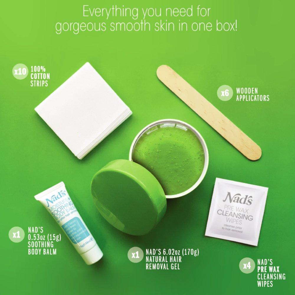 Amazon.com: Nads gel para remover bellos sin calor, kit de ...