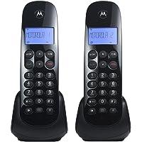 Telefone sem Fio Motorola MOTO700-MRD2 +1 Ramal com Identificador de Chamadas Digital Preto