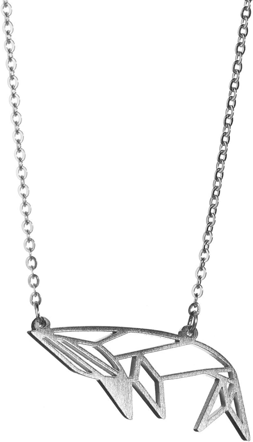Unicorn Silver Unicorn Necklace for Girls /& Origami Necklace La Menagerie Origami Jewellery /& Silver Geometric Necklace 925 Sterling plated Silver Necklace /& Unicorn Necklaces for Women