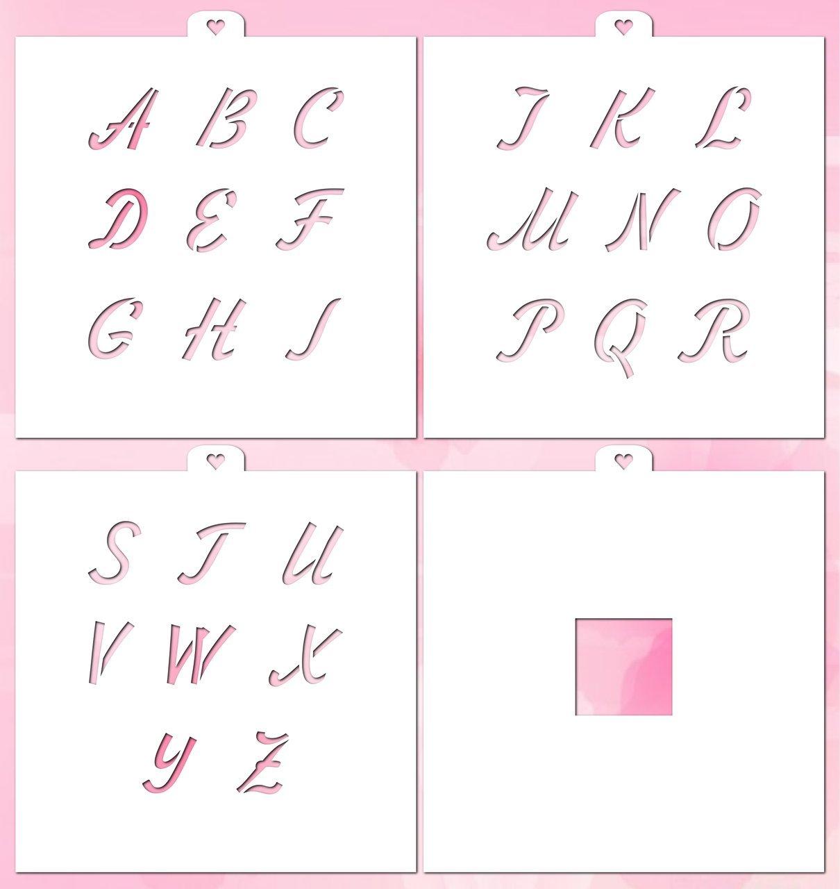 Cookie Stencil Set Alphabet 2 Italic with Mask, 4 pcs.