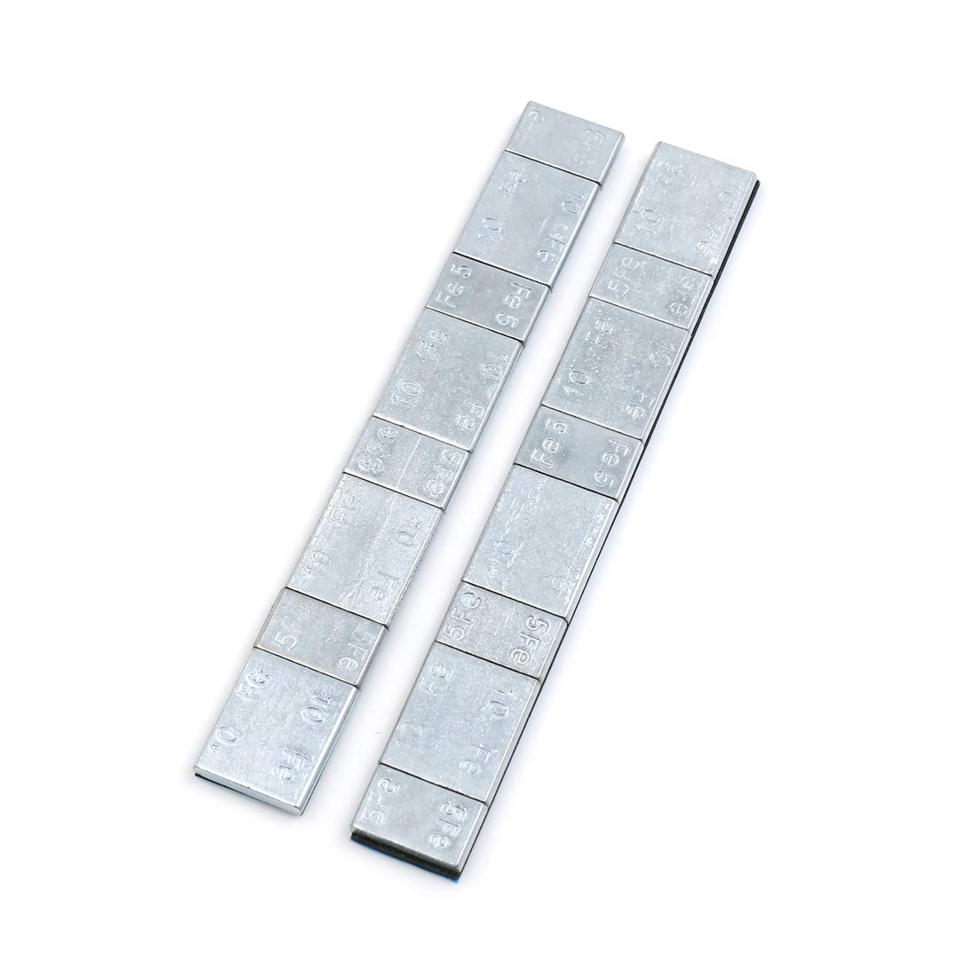 F FIERCE CYCLE 2.1oz Adhesive Back Wheel Balance Weights Strips for Motorcycle 134 x 18mm 2pcs