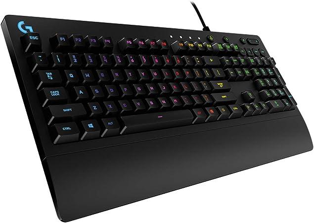 Oferta amazon: Logitech G213 Prodigy Teclado Gaming, Retroiluminación RGB LIGHTSYNC, Resistente a Salpicaduras, Personalizable, Controles Multimedia, Disposición QWERTY Español, Negro
