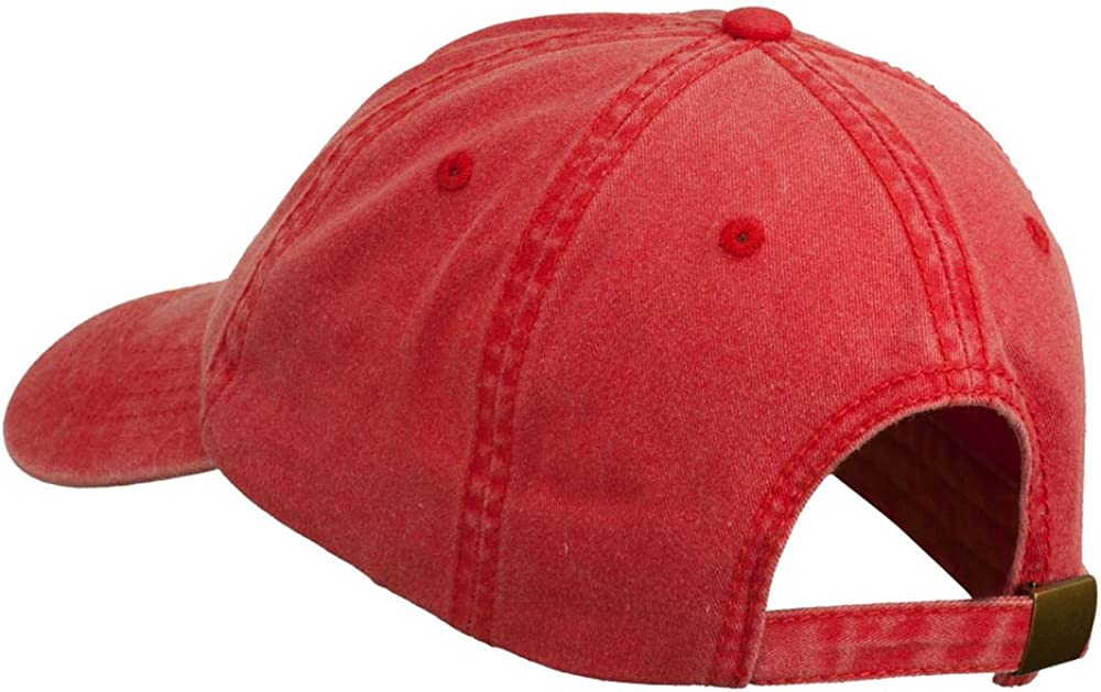 e4Hats.com Ohio State Map Embroidered Washed Cotton Cap