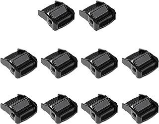 F Fityle 10 Pièces Boucles De Caméra pour Baguette 38mm Bagage Cargo Kayak Board Surf Black