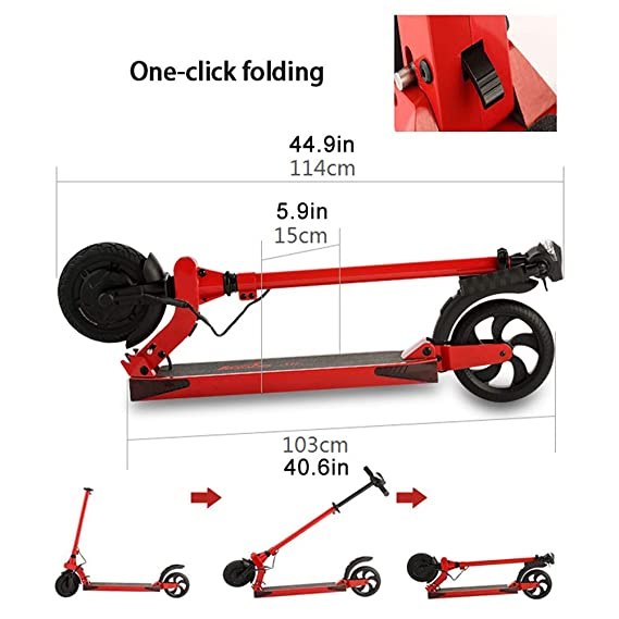 GREATY E-Scooter, Plegable E-Scooter Adulto con 350W Motor ...