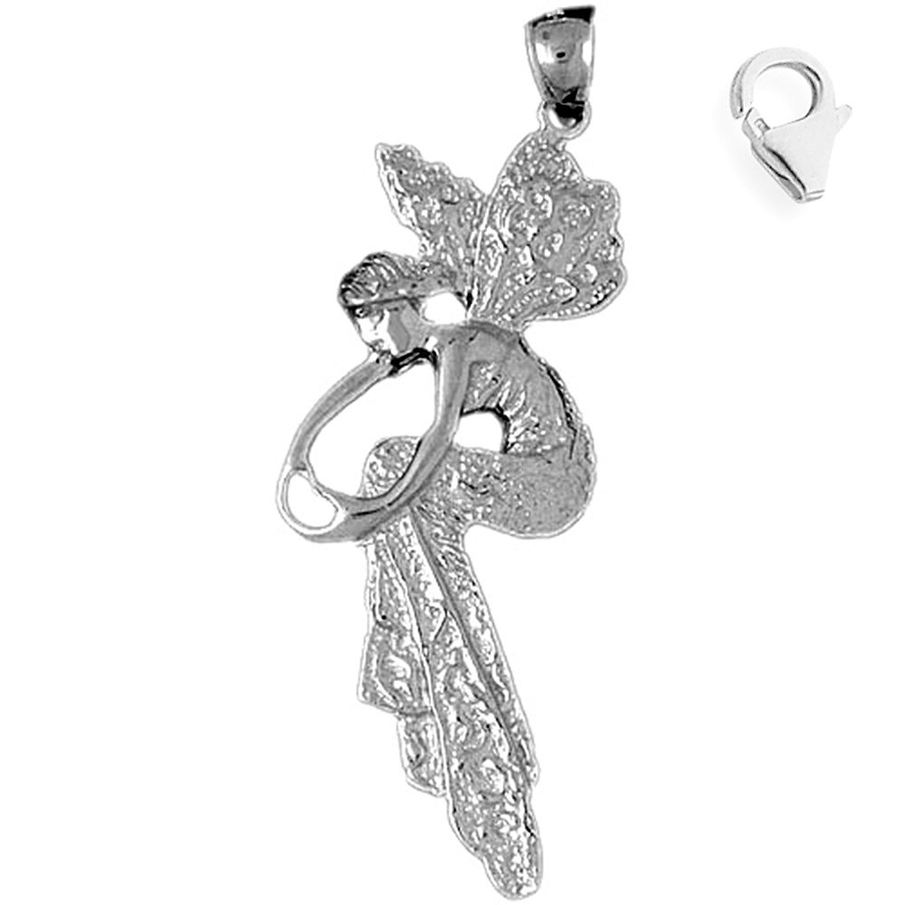 JewelsObsession Sterling Silver 58mm Crucifix Charm w//Lobster Clasp