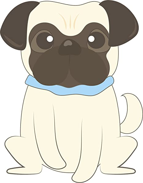 Amazon.com: Adorable lindo peluche de cachorro Big-eyed Pug ...