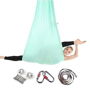Yuanu Multifunktional Antenne Yoga-H/ängematte Ultra Stark Safe Dauerhaft Anti-Gravitations Yoga Hammock Inversionswerkzeug F/ür Yoga Inversions/übungen Dunkelviolett One Size