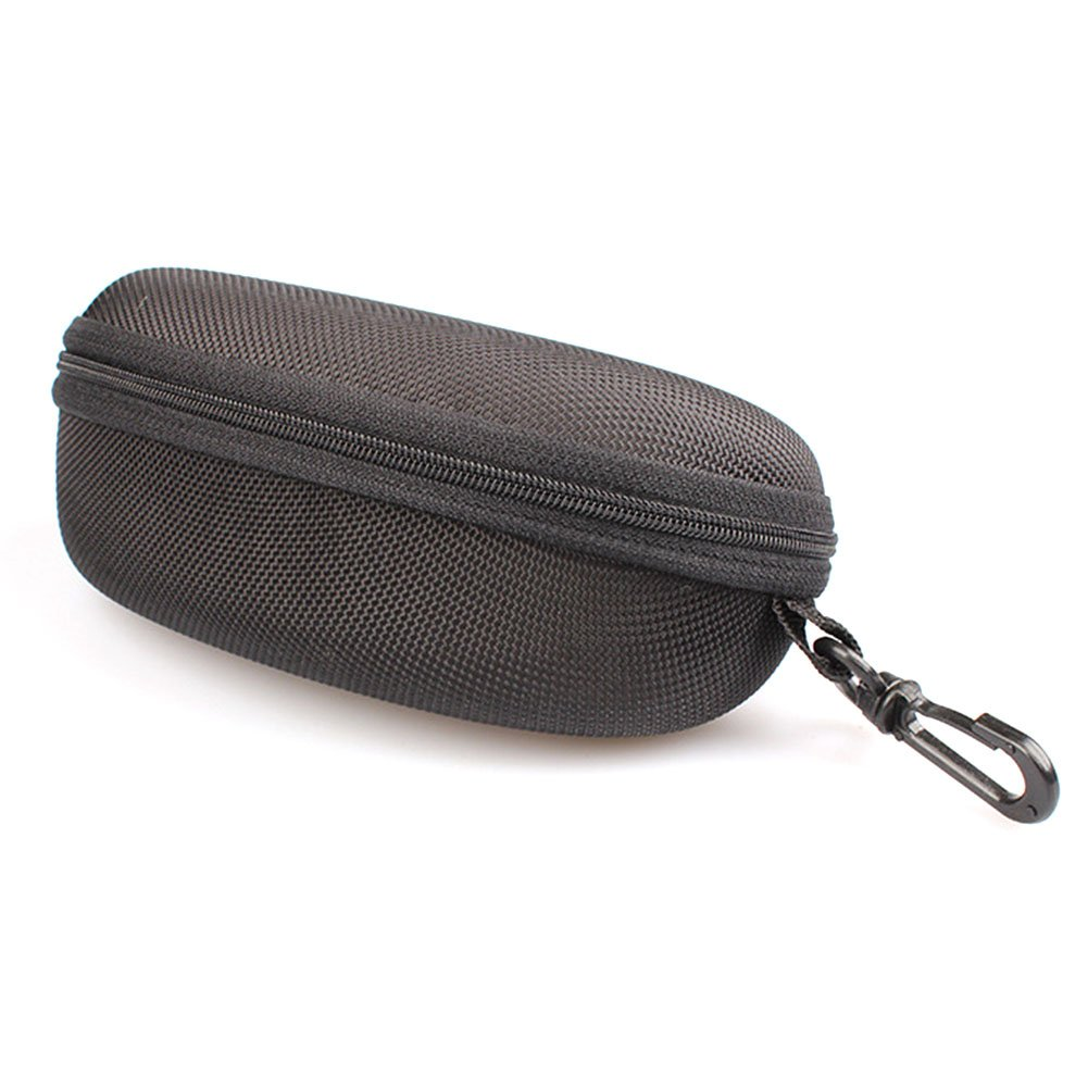 DYLANDY PU Sunglasses Case Pouch Bag Makeup Organizer Holder Clutch Bag Coin Purse Travel Kit Toiletry Bag - Black
