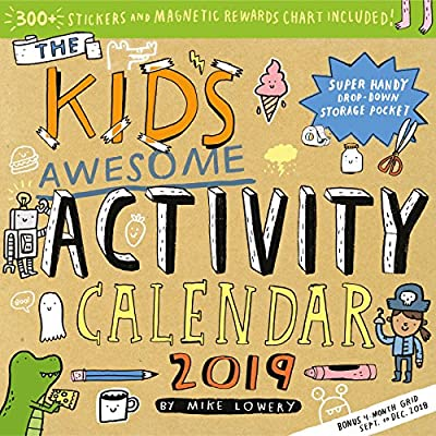 Kid's Awesome Activity Wall Calendar 2019