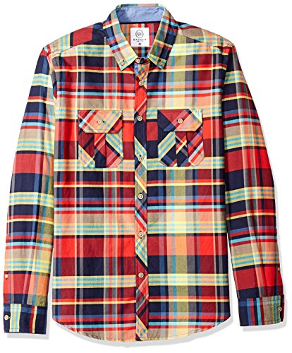 Badger Smith Men's Oxford Checks Regular Fit Button Down Shirt