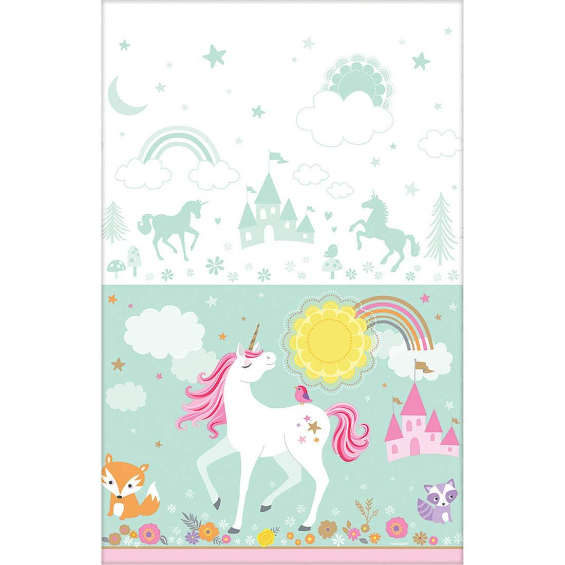 Amakando Encantador Folio para Mesa Lavable Unicornio ...
