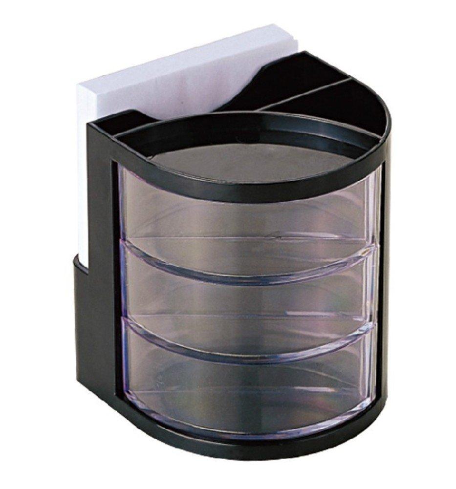 Plástico Redonda Pluma Portapluma Organizador-A Tabla Organizador-A Portapluma 9x9cm(4x4inch) ef467c