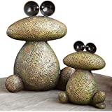 Bits And Pieces Garden Décor Two Frogs Sculpture For Your Garden, Lawn Or  Patio   Durable, Weather Resistant Polyresin Statue