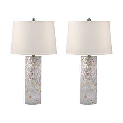 Amazon dimond lighting set of 2 mother of pearl cylinder table amazon dimond lighting set of 2 mother of pearl cylinder table lamps home kitchen aloadofball Choice Image