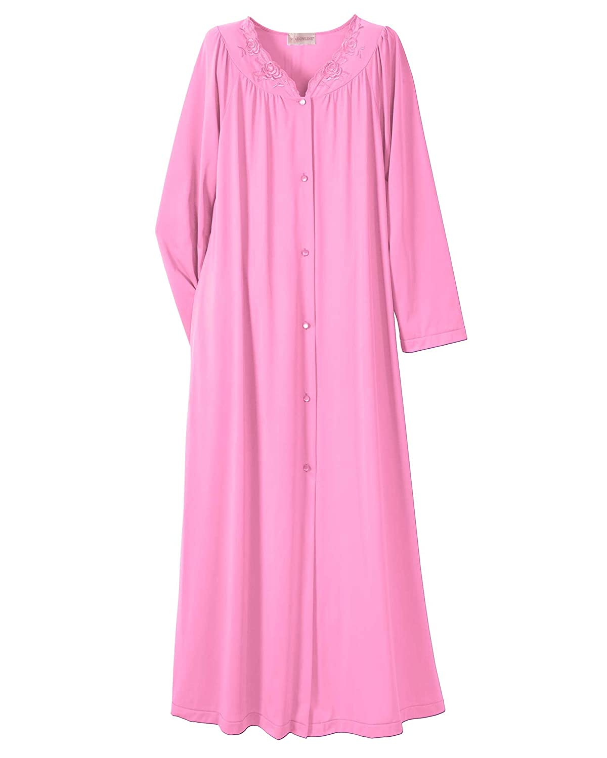 Shadowline Women's Plus-Size Petals 54 Inch Long Sleeve Long Coat Shadowline Sleepwear 71280X