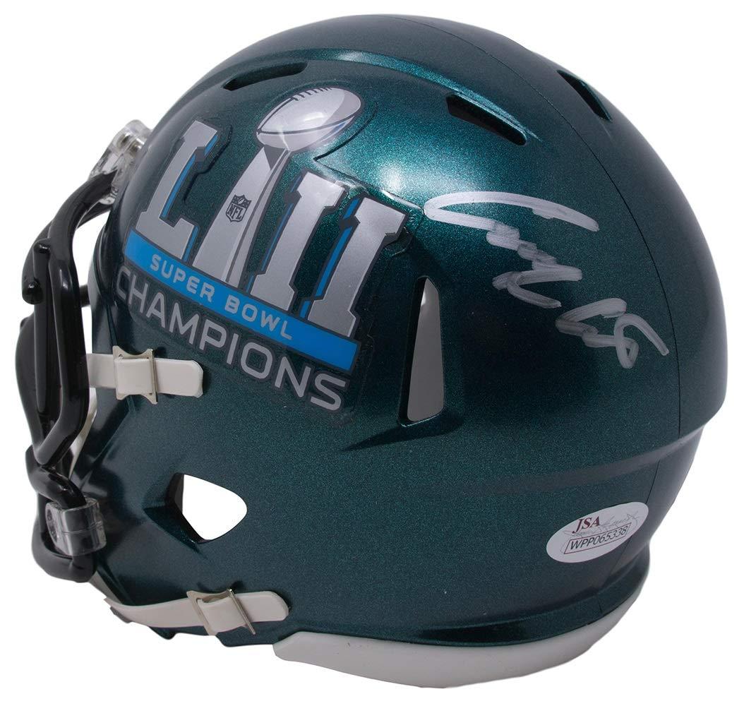 Corey Clement Signed Philadelphia Eagles Super Bowl 52 Champions Mini Helmet JSA