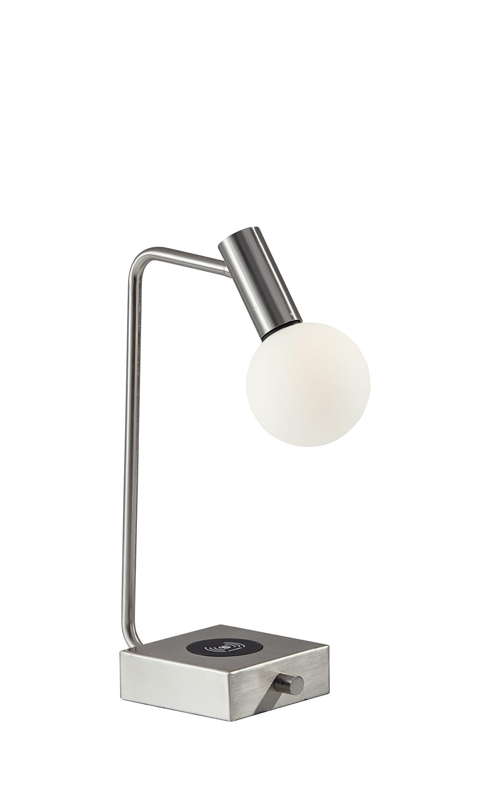 Adesso 3214-22 Windsor Charge LED Desk Lamp, Brushed Steel