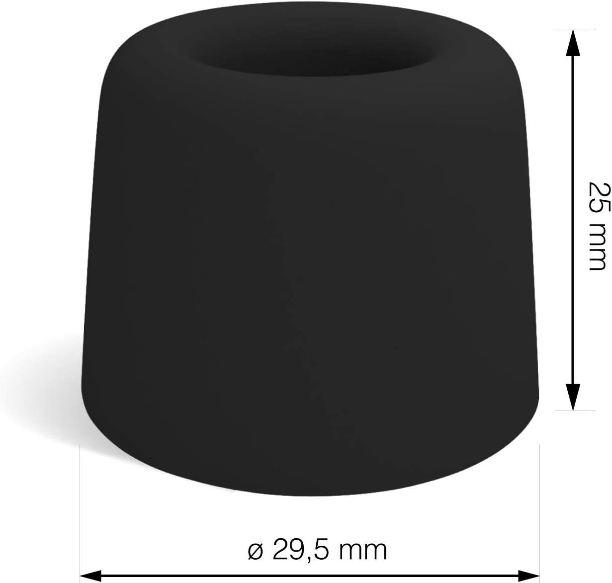 T/ürstopper Bodenmontage Der Perfekte Schutz gegen anschlagende T/üren LouMaxx T/ürstopper Boden Schrauben aus Gummi T/ürstopper Kunststoff T/ürstopper Gummi 3er Set in schwarz
