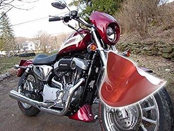 Rojo parte inferior Alerón Trasero Guardabarros Guardabarros delantero para Harley Sportster XL 883 1200: Amazon.es: Coche y moto