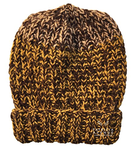(Knitted by Hand Alpaca Blend Hat for Boys and Girls (Caramel &)
