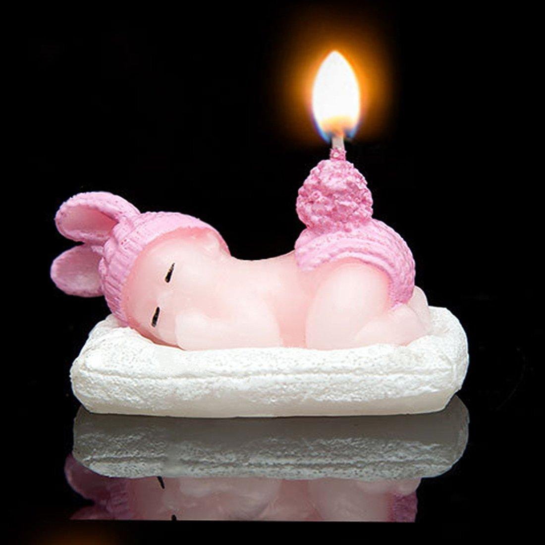 Niño Baby-Boys/Baby-Girls cumpleaños velas ángel bebé tarta ...