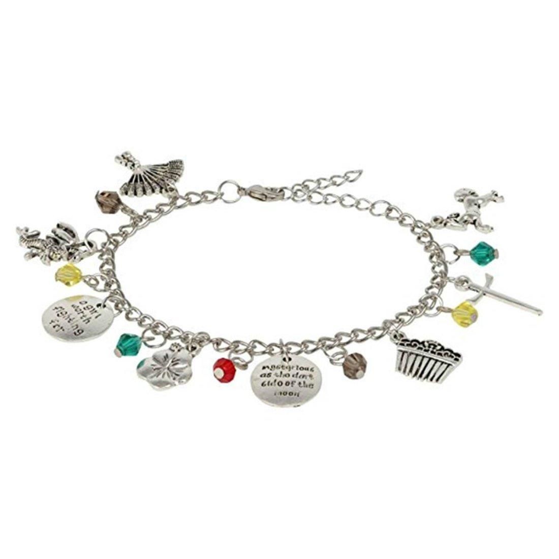 Athena Brand Disney Mulan Charm Bracelet Movie Series Premium Jewelry Multi Charms Movie Collection