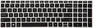 Keyboard Cover for HP Envy x360 2-in-1 15M-BP011DX 15M-BQ021DX 15M-BQ121DX 15-EF1020NR 15-EB0043DX 15-EF0023DX,17M-AE111DX,17-AK010NR,17-BS010NR 17-BS049DX 17-BS020NR Series Laptop - Black
