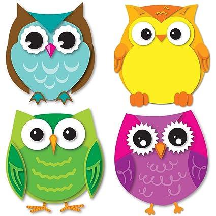 amazon com carson dellosa colorful owls mini cut outs 120195 rh amazon com