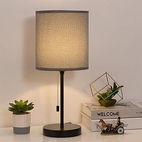 Amazon.com: HAITRAL HT-TH103-15 - Lámpara de mesita de noche ...