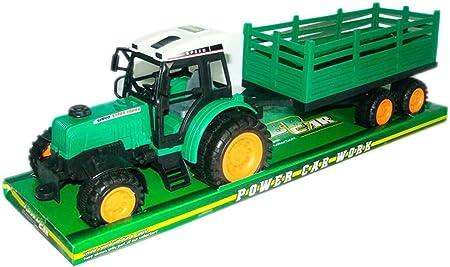 VICTORIA PARTY Tractor con Remolque 52cm Caja 54x15x16cm: Amazon.es: Juguetes y juegos