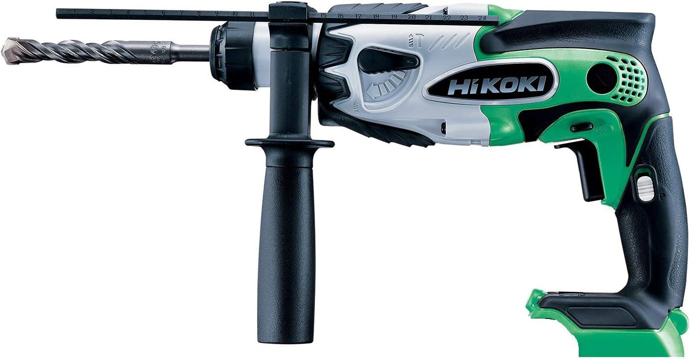 HiKOKI(ハイコーキ) 旧日立工機 18V コードレスロータリーハンマードリル 充電式 グリーン 蓄電池・充電器別売り 本体のみ DH18DSL(NN)(L)