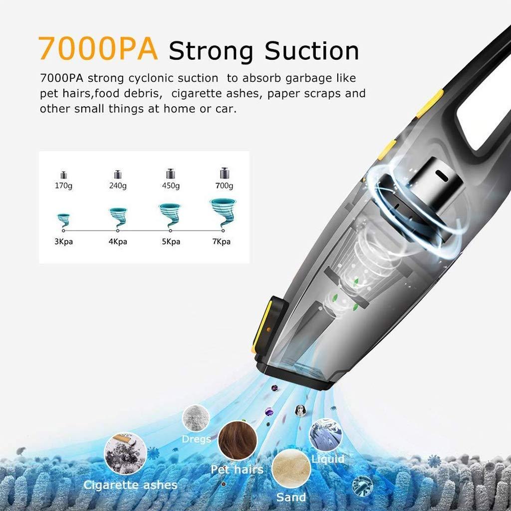 Zmsdt Aspirapolvere Portatile Portatile 6000 Pa Aspiratore A Ciclone Potente per La Pulizia della Macchina per Uso Domestico Aspirapolvere Ricaricabile