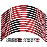 2014 suzuki gsxr 1000 stickers - 10 X CUSTOM RIM DECALS WHEEL Reflective STICKERS STRIPES For Suzuki GSXR Gixxer 600 750 1300 1000