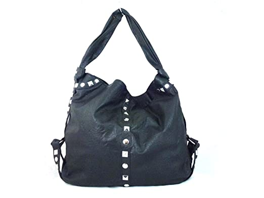 New Ladies Large A4 Studded Shoulder Bag Womens Studs Handbag ...